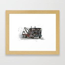 Tow-truck Framed Art Print