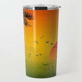 Japanese Sunset Travel Mug