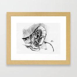 Warbot Sketch #057 Framed Art Print