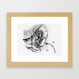 Warbot Sketch #057 Framed Art Print