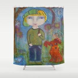 Anton & Gumbo - Whimsies of Light Children Series Shower Curtain