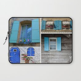 Blue Shutters at Work Laptop Sleeve