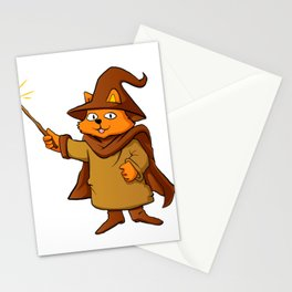 wizard cat. Stationery Cards