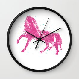 Horse Riding Gift Little Girls Sparkle Horseback Farm Wall Clock