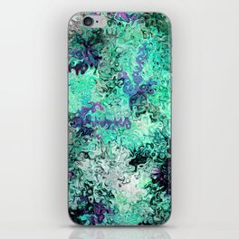 So Undecided, Abstract Art Swirls Pattern iPhone Skin