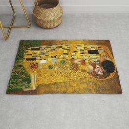 The Kiss Painting Gustav Klimt Rug