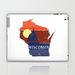 Wisconsin State WI Sailboat Sunset Print Laptop & iPad Skin
