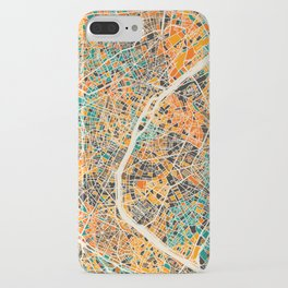 Paris mosaic map #2 iPhone Case