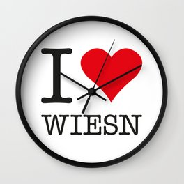 I LOVE WIESN Wall Clock