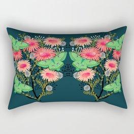 Luna Moth Florals by Andrea Lauren  Rectangular Pillow