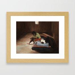 Mrs. Ura And Her Daughter Framed Art Print
