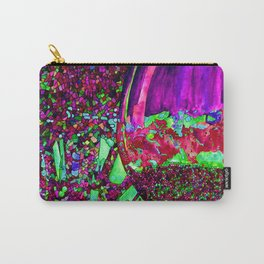 Abstract Wine Glass in Pinks Carry-All Pouch