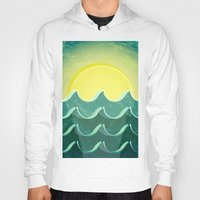 notebook Hoodies featuring Sun and sea by Katherine Paulin