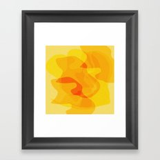 Orange Abstract Shapes Framed Art Print