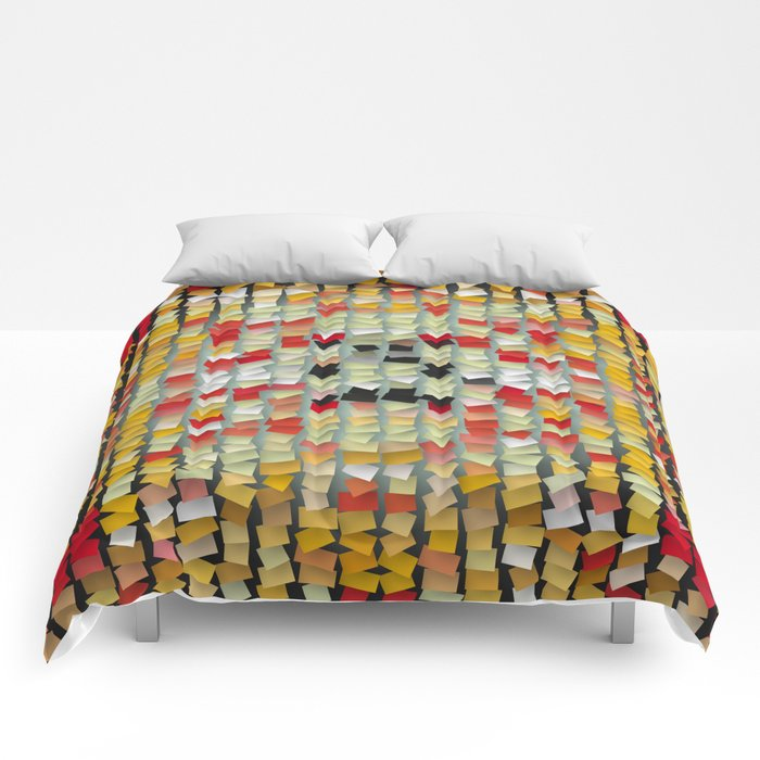 colored notes Comforters