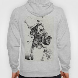 The Mad Hatter B&W Hoody