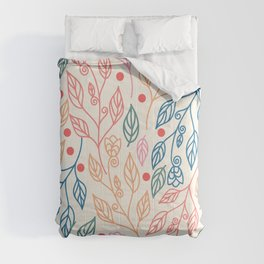 colorful foliage Comforters