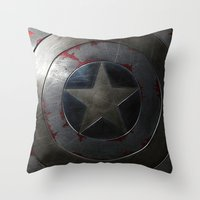 agents of shield Throw Pillows featuring SHIELD by Bilqis