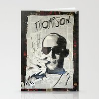 hunter s thompson Stationery Cards featuring Dr. Hunter S. Thompson by Mike Oncley