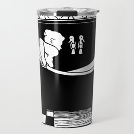 The Bath - Le Bain by Félix Vallotton - Retro Vintage Woodblock Painting Travel Mug