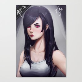 Tifa Lockhart Canvas Print