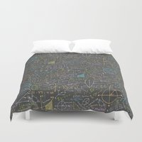 math Duvet Covers featuring Math Lessons by robyriker