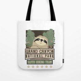 Grand Canyon National Park Sloth Hiking Team Tote Bag