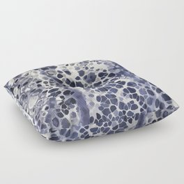 Purple-blue abstract Floor Pillow