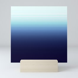 Nautical Blue Ombre Mini Art Print