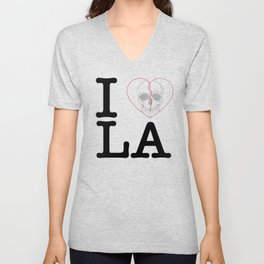 I Heart Skull Los Angeles Unisex V-Neck