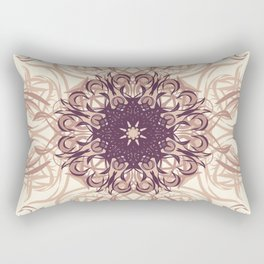 Rose Gold Flourish Rectangular Pillow