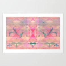 Diamond Gulls Art Print