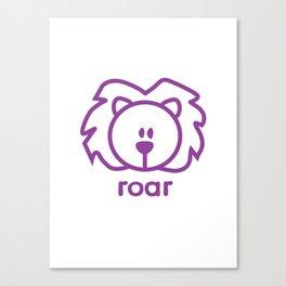 Lion : roar Canvas Print