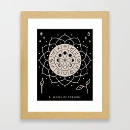 10. WHEEL OF FORTUNE Framed Art Print