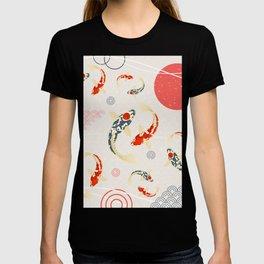 Koi Fish Yin Yang Geometrical Abstract T-shirt