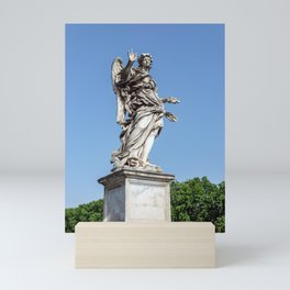 Angel with the Nails at the Sant'Angelo bridge - Rome, Italy Mini Art Print
