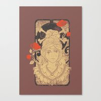 art nouveau Canvas Prints featuring Art Nouveau by Tshirt-Factory