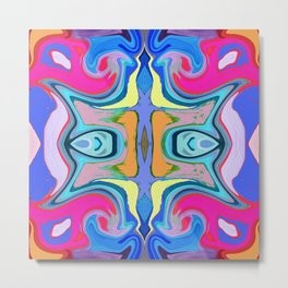 96 - Colour abstract pattern Metal Print