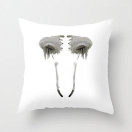 Rorschach Eyes Throw Pillow