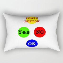 Yes No Buttons jGibney The MUSEUM Society Gifts Rectangular Pillow