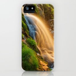 Glowing Loup of Fintry Waterfall iPhone Case