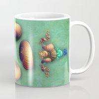 seashell Mugs featuring Seashell Fantasy by Lynn Bolt