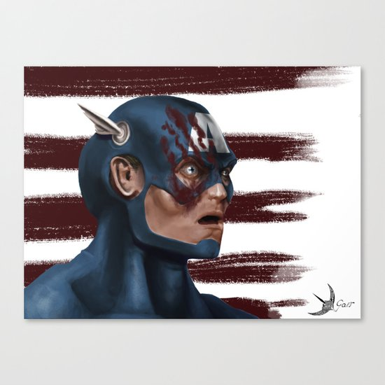 THE FACE COLLECTION - CAPTAIN AMERICA Canvas Print