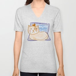 Blue Screen of Cat Unisex V-Neck