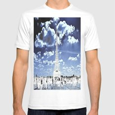 Tower Tourists in Reverse White MEDIUM Mens Fitted Tee