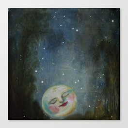 Always Kiss the Moon Goodnight  Canvas Print