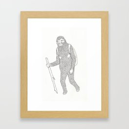 Hitch Hiking Framed Art Print