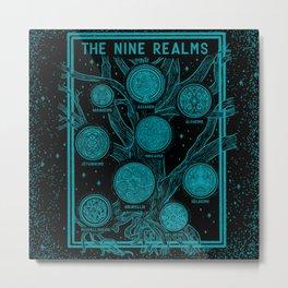 Yggdrasil: The Nine Realms Metal Print