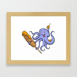 Tako Dog Framed Art Print