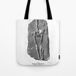 Fossil. Human Skeleton. Found in Guadaloupe Tote Bag